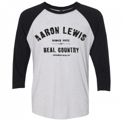 Aaron Lewis Heather White and Black Raglan Tee