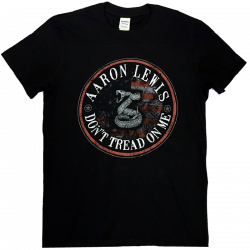 Aaron Lewis Black Tee- Don't Tread On Me