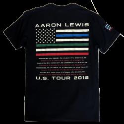 Aaron Lewis Black Tee- First Responders
