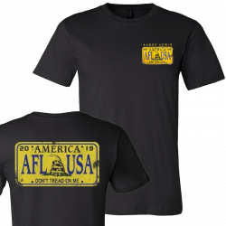 Aaron Lewis 2019 License Plate Black Tee