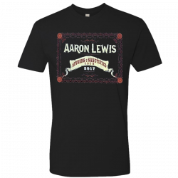 Aaron Lewis 2017 Black Sinner and Sanctified Tour Tee