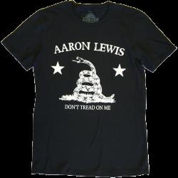 Aaron Lewis Black Tee-Don't Tread On Me