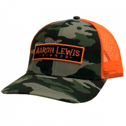 Aaron Lewis Camo and Safety Orange Ballcap