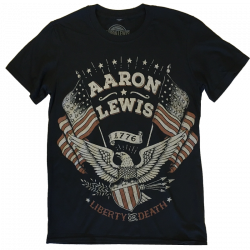 Aaron Lewis Black Tee- Liberty or Death Eagle Design