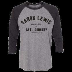 Aaron Lewis Vintage Grey and Black Raglan Tee