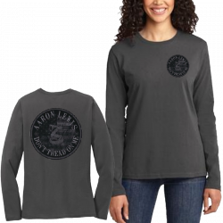Aaron Lewis LADIES Long Sleeve Charcoal Don't Tread On Me Tee