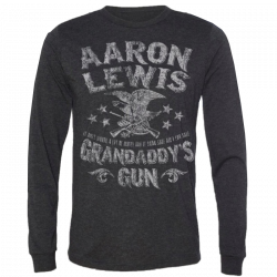 Aaron Lewis Long Sleeve Charcoal/Black Grandaddy's Guns Tee