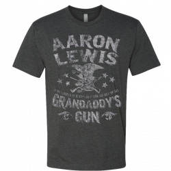 Aaron Lewis Short Sleeve Heather Charcoal Grandaddy's Guns Tee