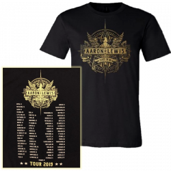 Aaron Lewis State I'm In Black Tour Tee