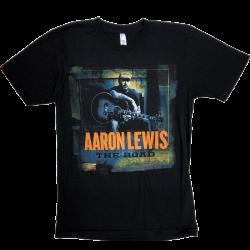 Aaron Lewis Black Tee- The Road