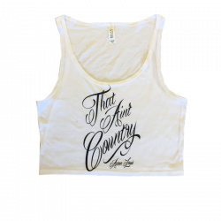 Aaron Lewis Ladies White Crop Top