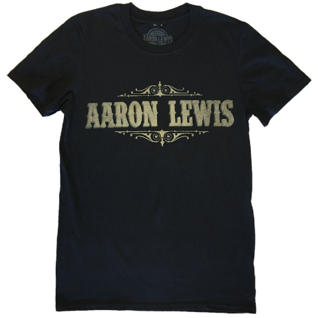 Aaron Lewis Black Logo Tee