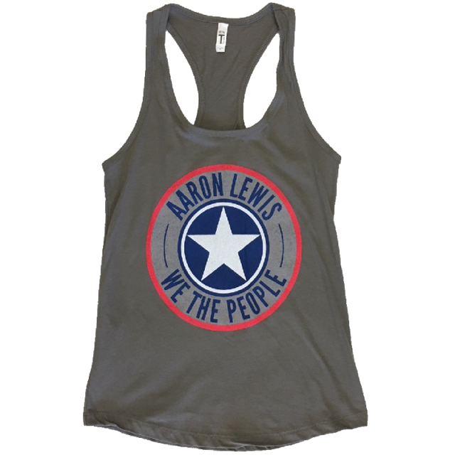 Aaron Lewis Ladies Grey Shield Tank