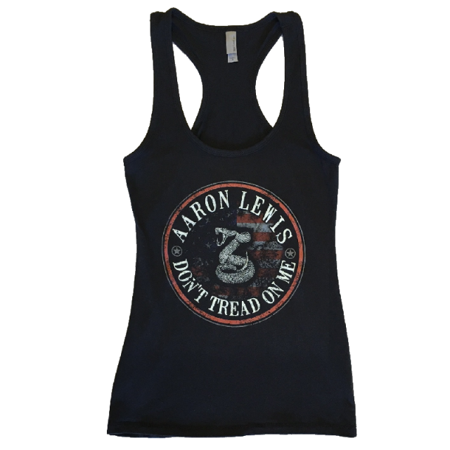 Aaron Lewis Black Racerback Tank- Don't Tread On Me