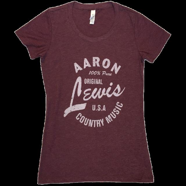 Aaron Lewis Ladies Heather Maroon Tee
