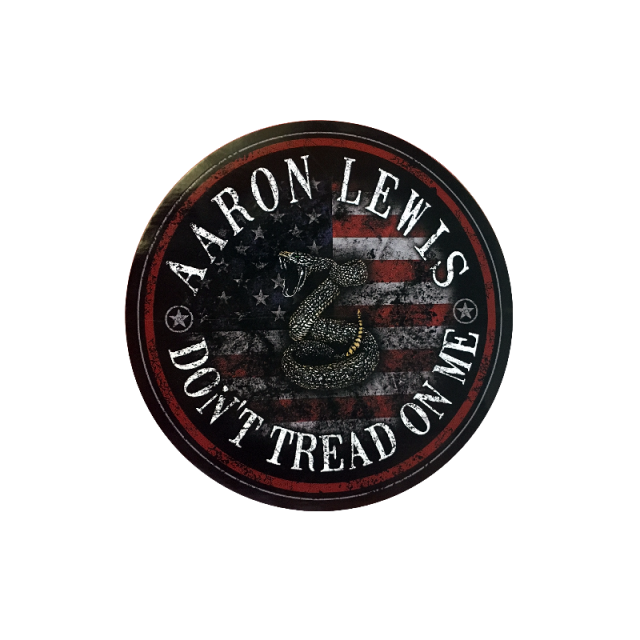 Aaron Lewis Round Don't Tread On Me Sticker