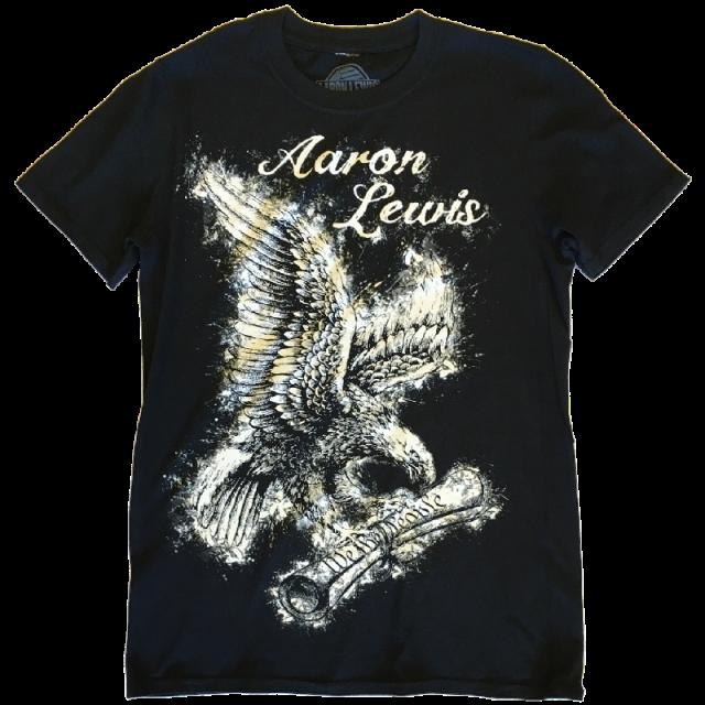 Aaron Lewis Black Tee- We the People Eagle Design