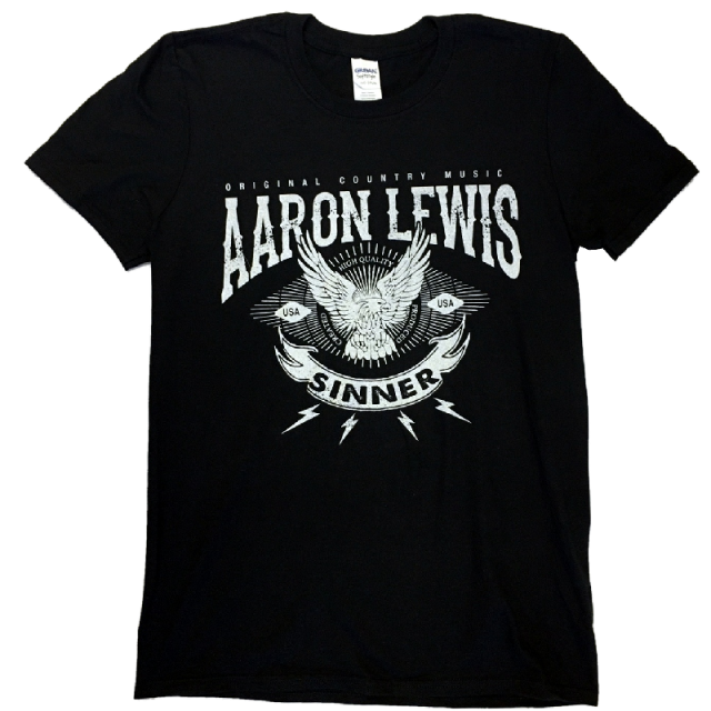 Aaron Lewis Black Tee- Original Country Music