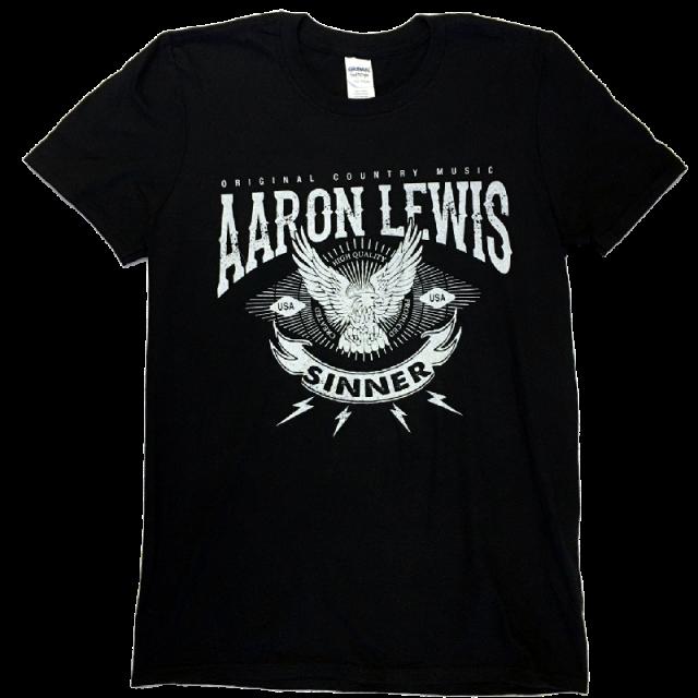 Aaron Lewis Black Tee- Original Country Music