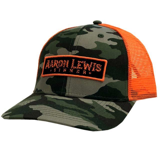 Aaron Lewis Camo and Safety Orange Ballcap