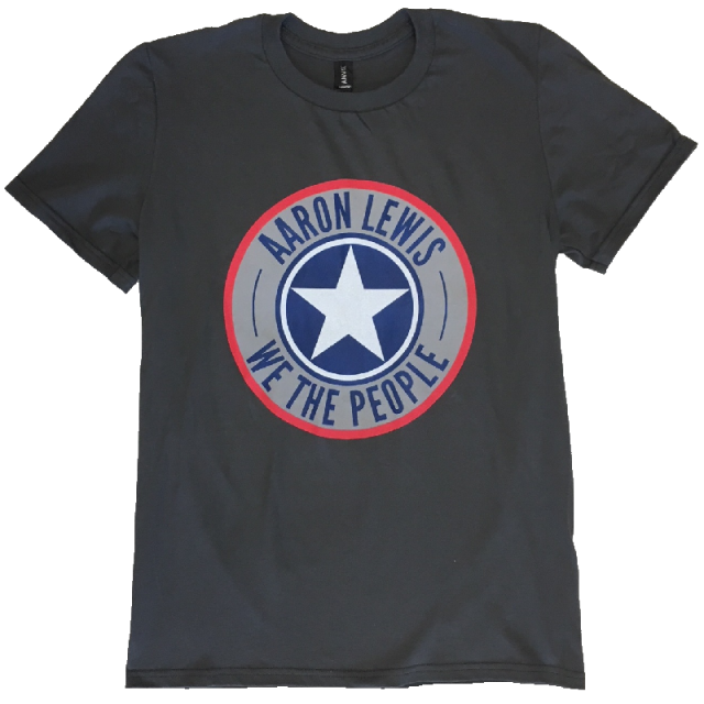 Aaron Lewis Charcoal Shield Tee