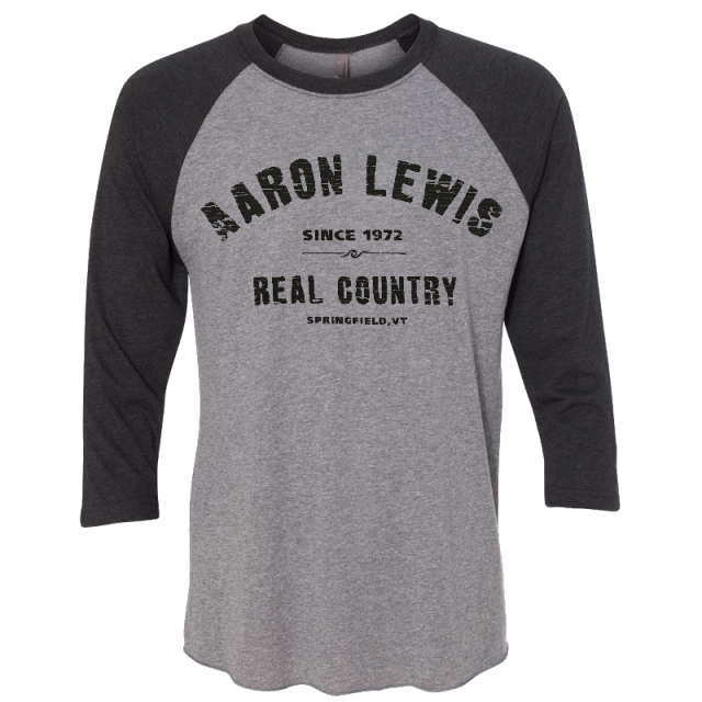 Aaron Lewis Vintage Grey and Black Raglan Tee