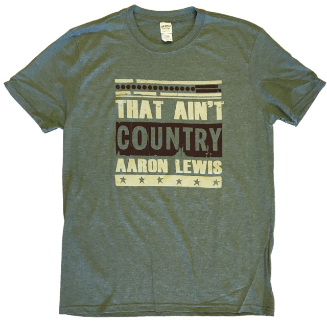 Aaron Lewis Heather Green Tee