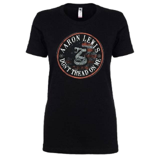 Aaron Lewis Ladies Black Don't Tread On Me Tee