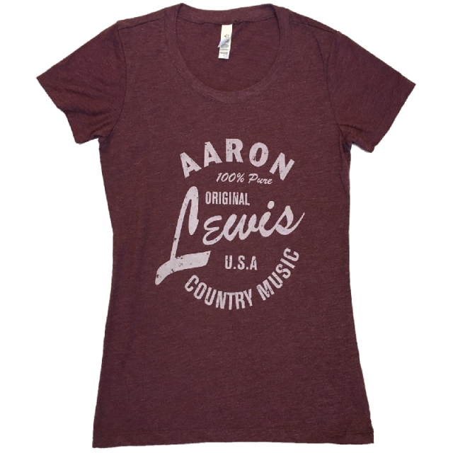 Aaron Lewis Ladies Heather Maroon Tee