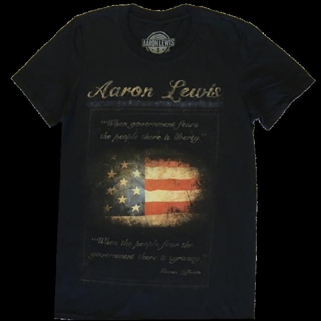 Aaron Lewis Black Flag Tee-Thomas Jefferson