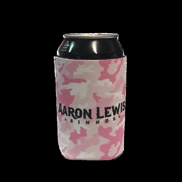 Aaron Lewis Pink Camo Koozie