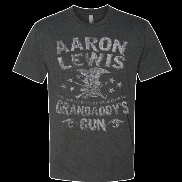 Aaron Lewis Short Sleeve Heather Charcoal Grandaddy's Guns Tee