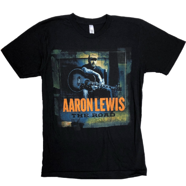 Aaron Lewis Black Tee- The Road