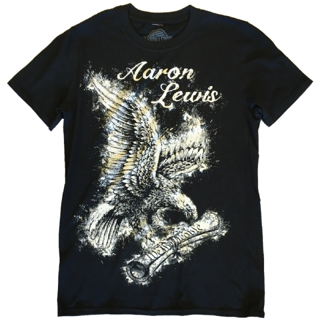 Aaron Lewis Black Tee- We the People Eagle Design